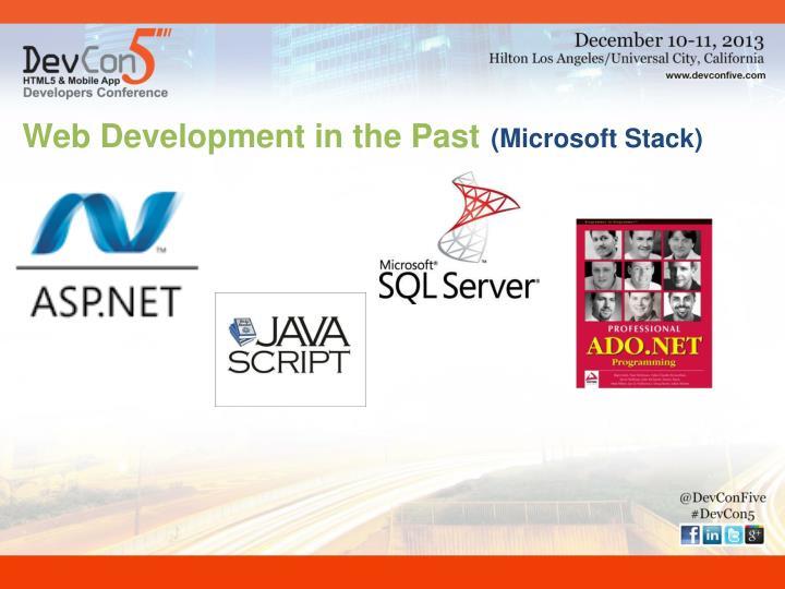 Web Development in the Past