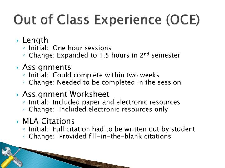 Out of Class Experience (OCE)