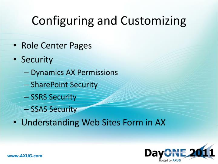 Configuring and Customizing