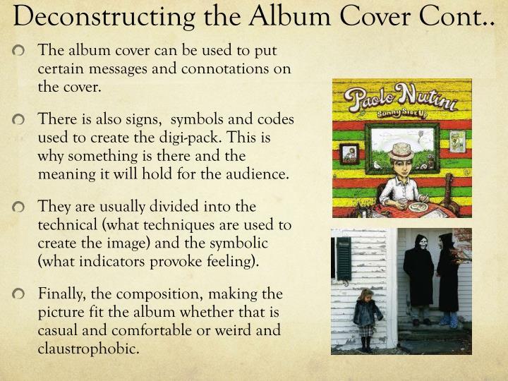 Deconstructing the Album Cover Cont..