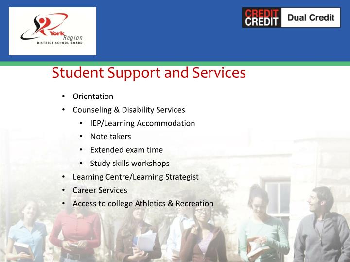 Student Support and Services