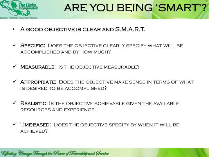 ARE YOU BEING 'SMART'?