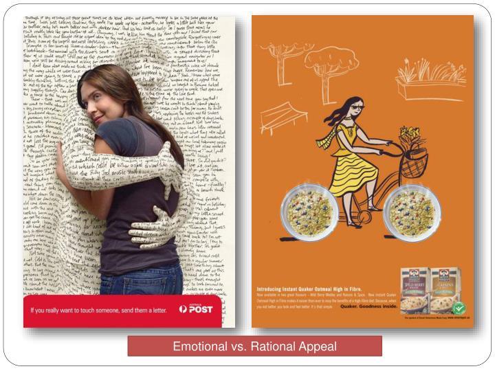 Emotional vs. Rational Appeal