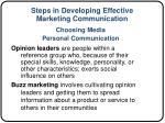 steps in developing effective marketing communication7