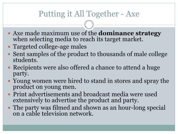 Putting it All Together - Axe