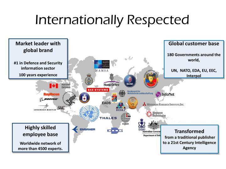 Internationally Respected