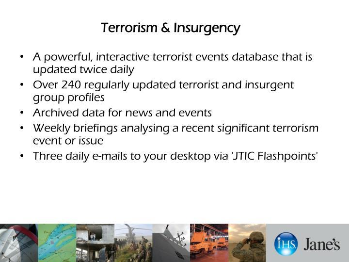 Terrorism & Insurgency