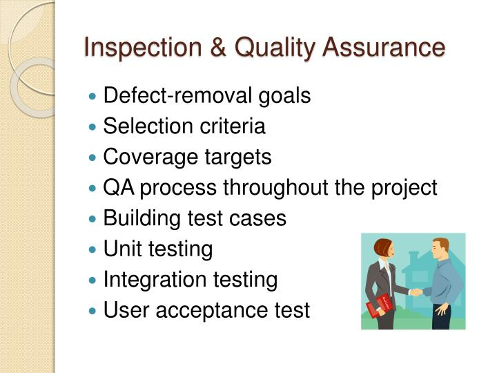 Inspection & Quality Assurance
