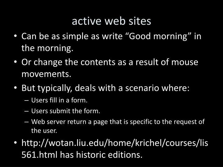 active web sites