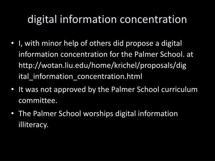 digital information concentration