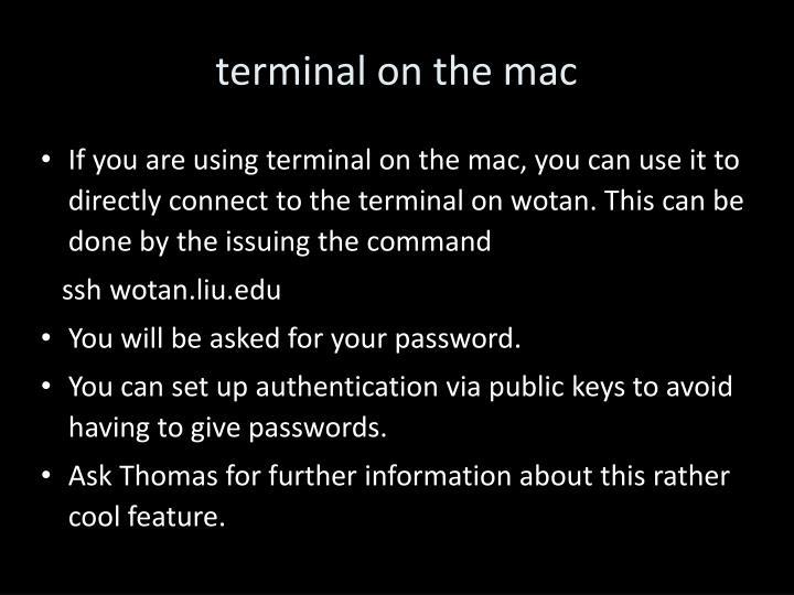 terminal on the mac