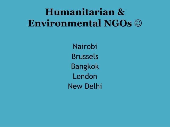 Humanitarian & Environmental NGOs