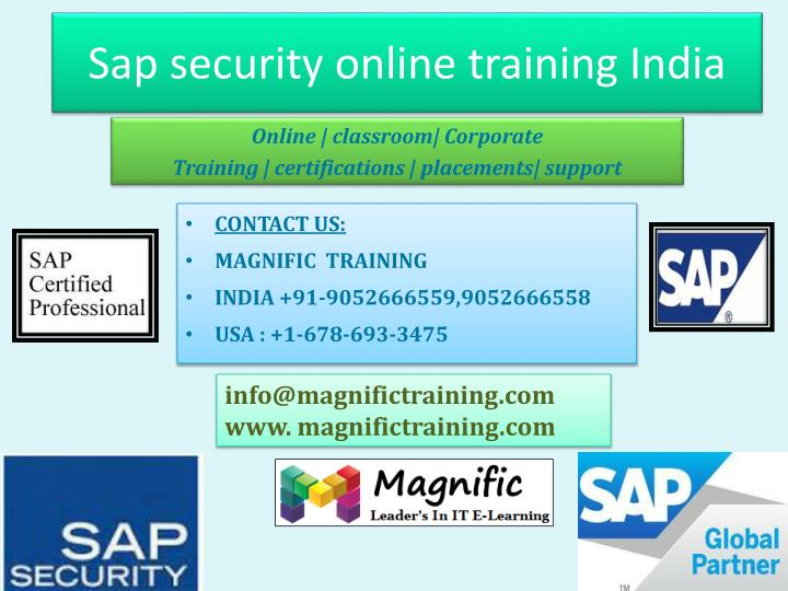 Sap security online training india