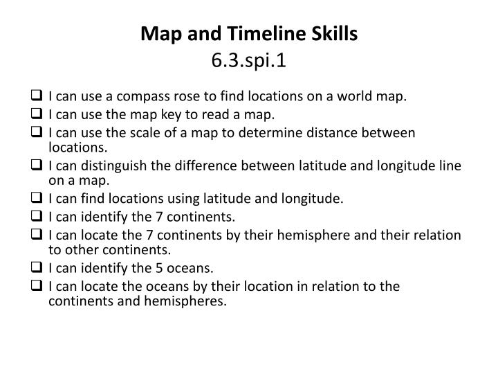 Map and Timeline Skills