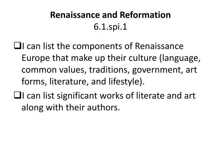 Renaissance and