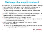 challenges for smart investment