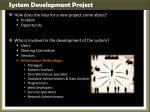 system development project