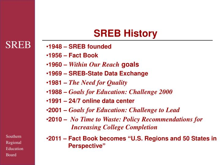 SREB History