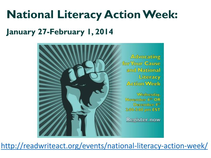 National Literacy Action Week: