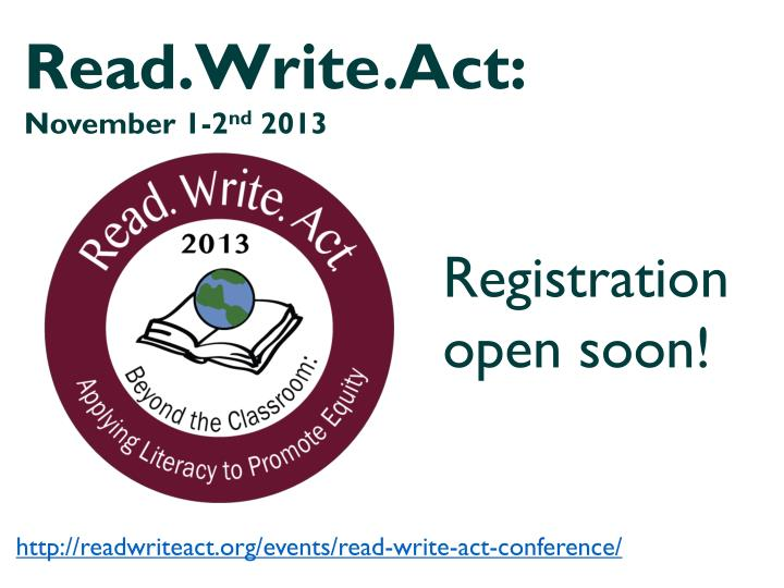 Read.Write.Act: