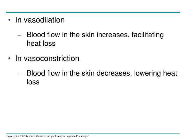 In vasodilation