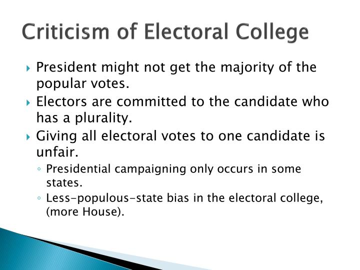 Criticism of Electoral College