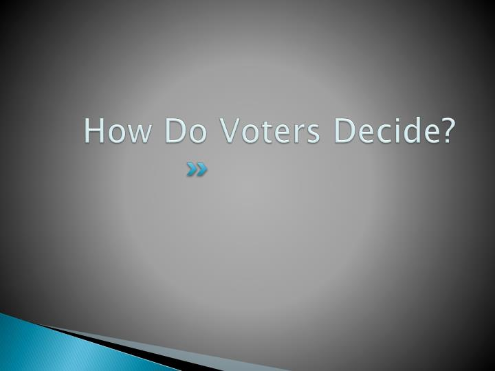 How Do Voters Decide?