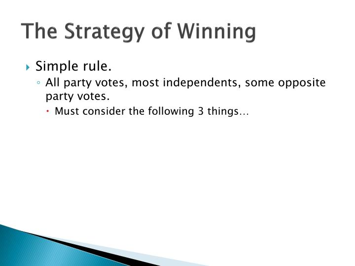 The Strategy of Winning