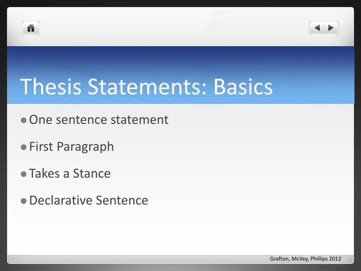 Thesis Statements: Basics