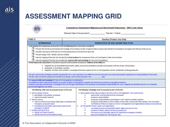 ASSESSMENT MAPPING GRID