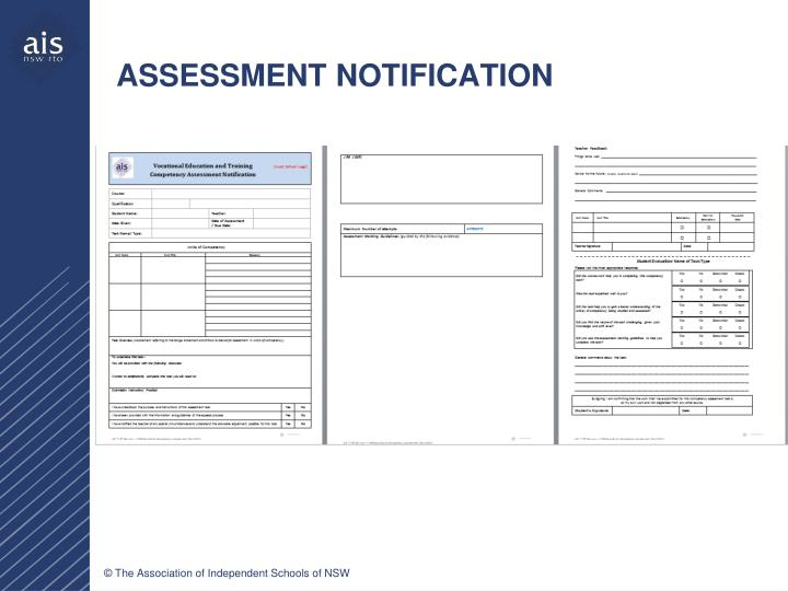 ASSESSMENT NOTIFICATION
