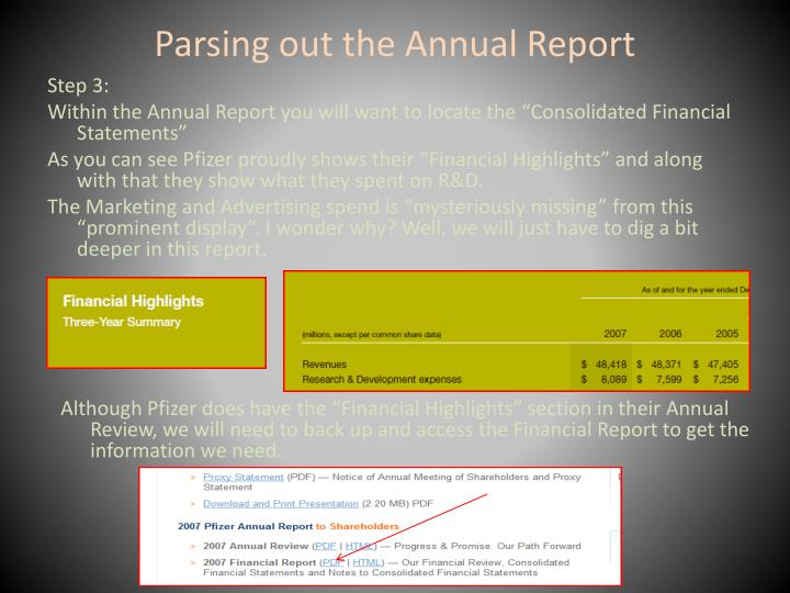 Parsing out the Annual Report