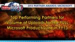2013 partner awards microsoft