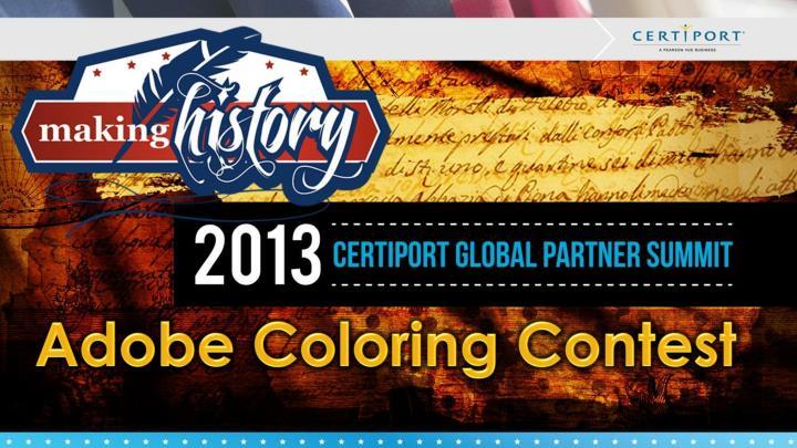 Adobe Coloring Contest