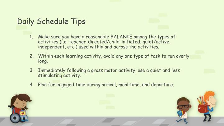 Daily Schedule Tips