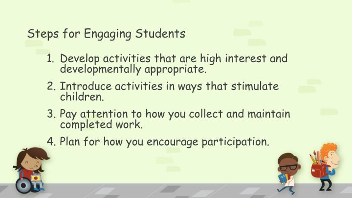 Steps for Engaging Students