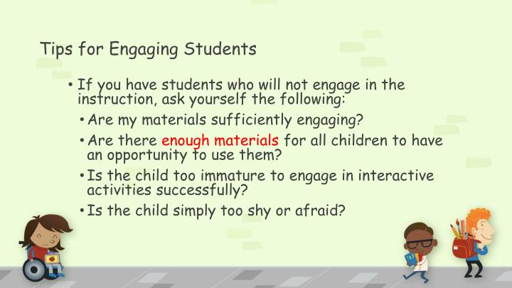 Tips for Engaging Students