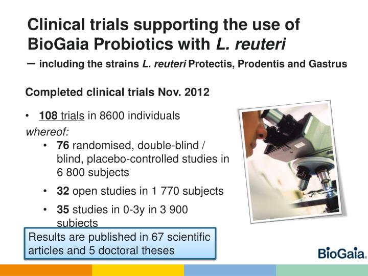 Clinical trials supporting the use of