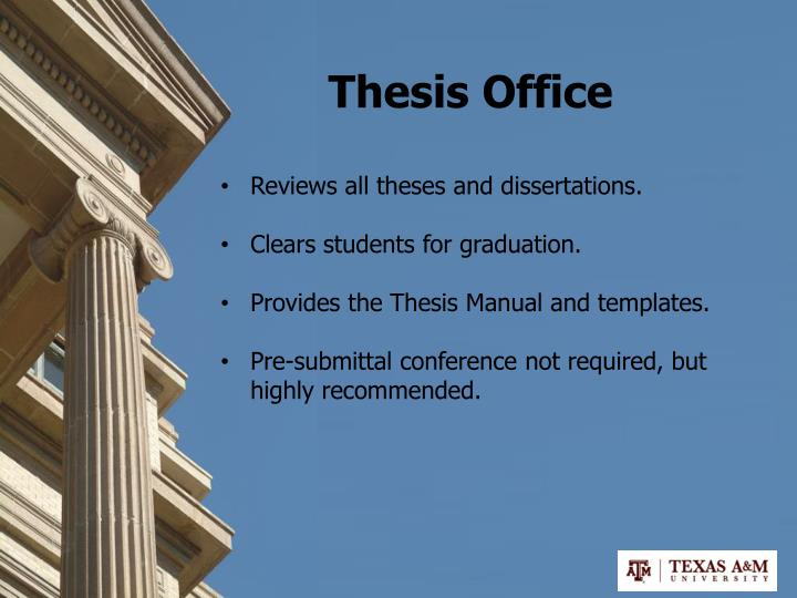 Thesis Office