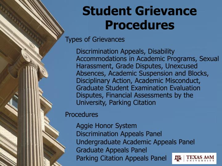 Student Grievance Procedures