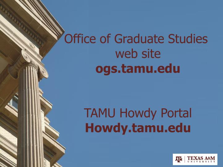 Office of Graduate Studies