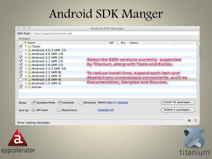 Android SDK Manger