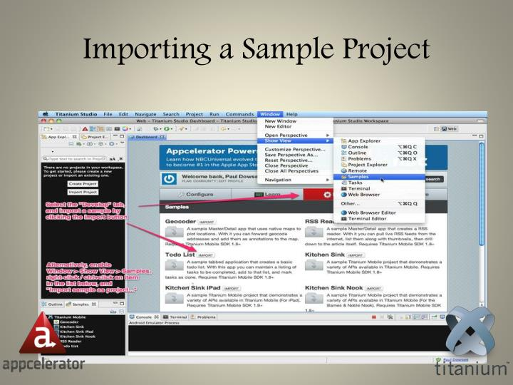 Importing a Sample