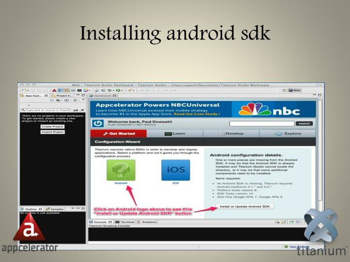 Installing android