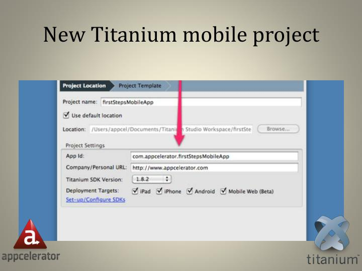 New Titanium mobile project