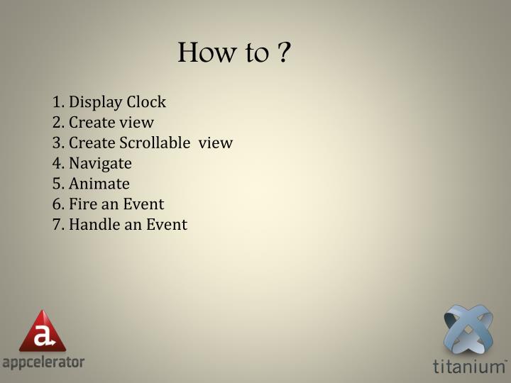 1. Display Clock