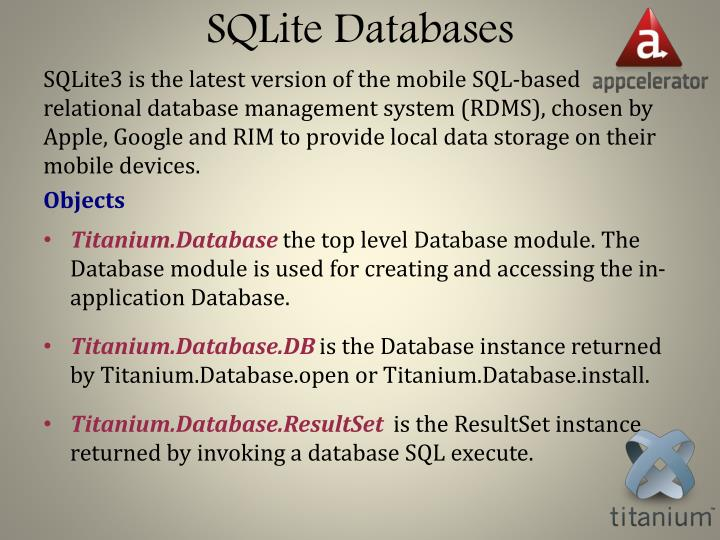 SQLite Databases