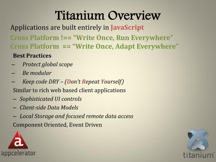 Titanium Overview