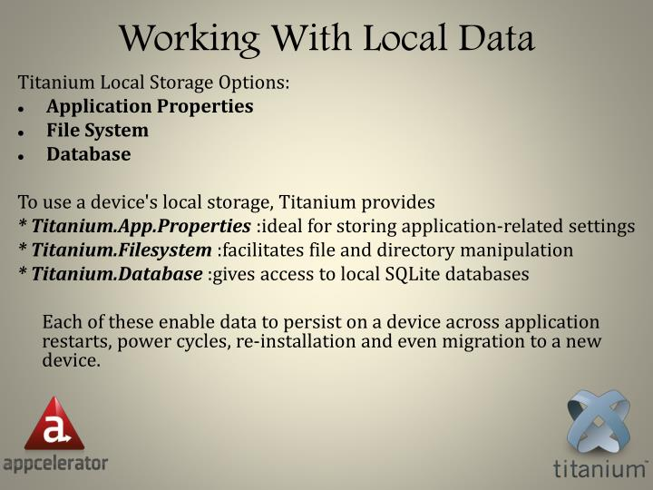 Working With Local Data