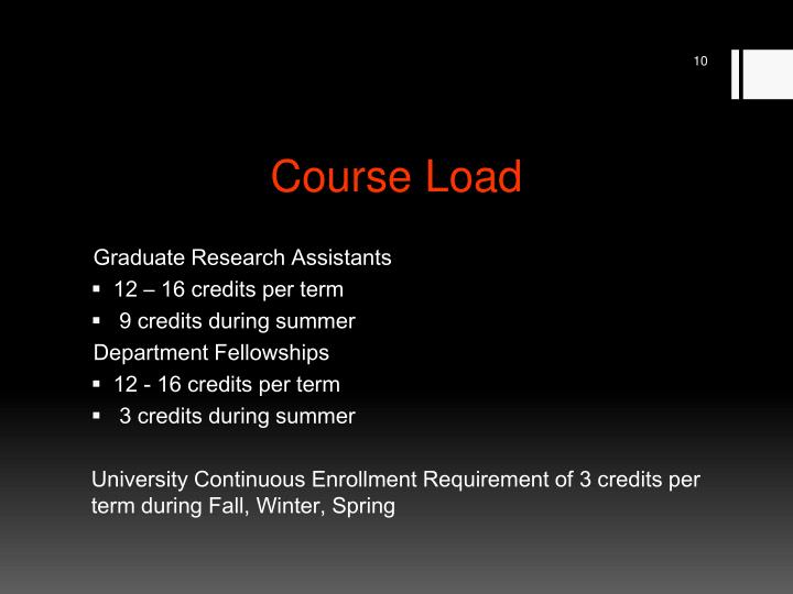 Course Load
